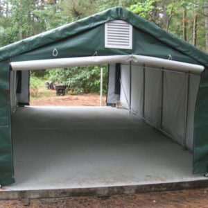 Temporary Extended Garage Shelter, Temporary Car Shelter, 12' x 40' x 8'
