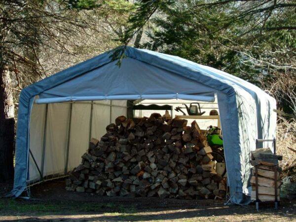 Outdoor Storage Tent, Canvas Storage Sheds, 12 x 12 x 8