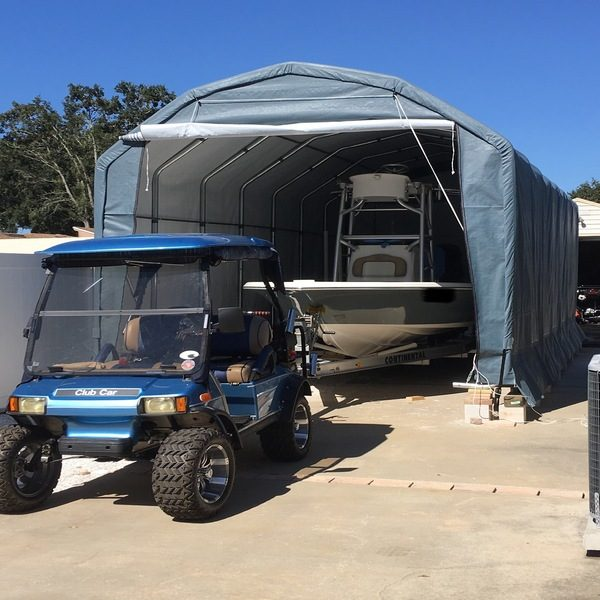 Temporary Car Shed, 12 x 24 x 10, Barn Style