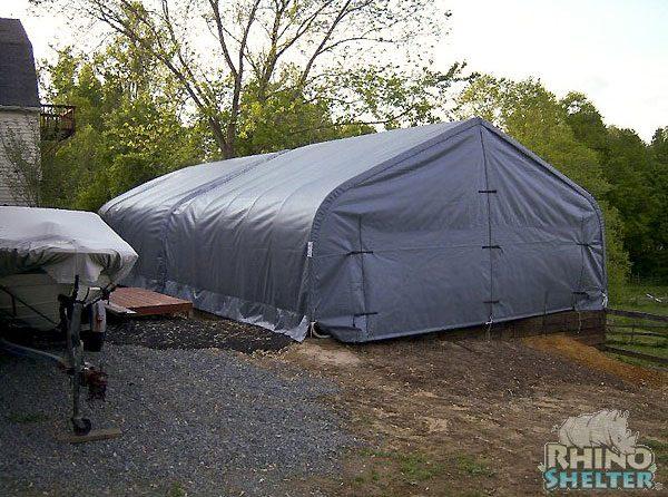 Car Tent Garage, Portable 2 Car Garage, 22 x 48 x 12