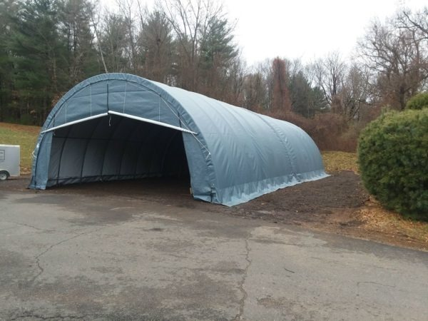 Car Shelter Tent, 30 x 30 x 15, Round Style