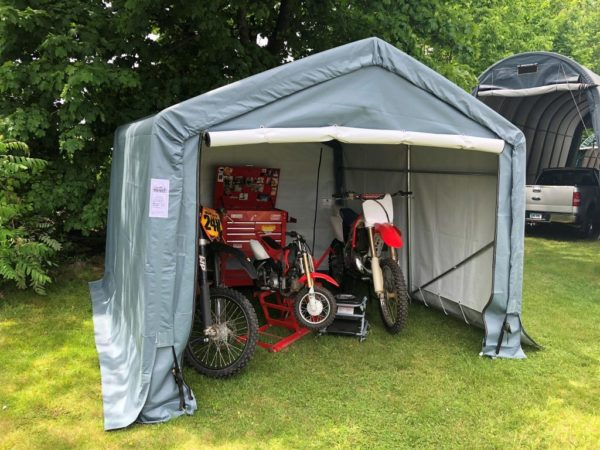 Tent Storage Sheds, Tension Fabric Building, 10 x 10 x 8