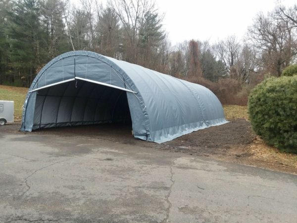 Temporary Garage Shelter, Temporary Car Shelter, 12 x 40 x 8