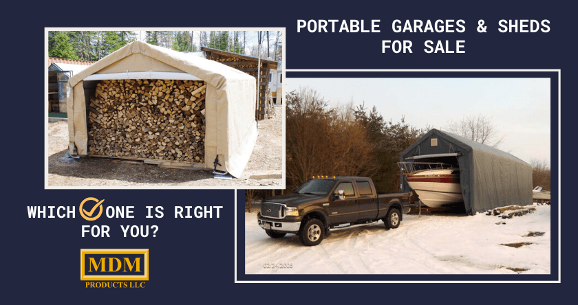 Portable Garages For Sale | MDM Products LLC Milford CT 06460