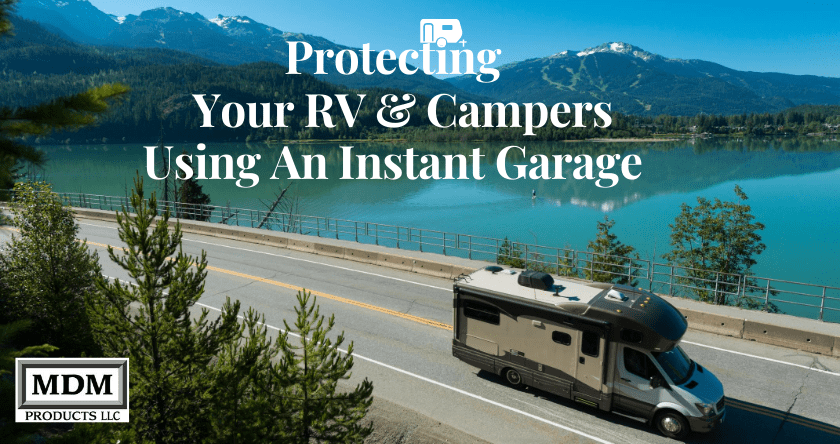 RV Portable Garage Protection with Instant Garages